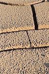 Cracked dry soil, full frame