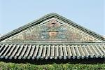 Temple chinois, ligne de toit décoratif