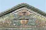 Temple chinois, ligne de toit décoratif, gros plan