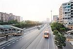Chine, artère de la ville, vue grand angle