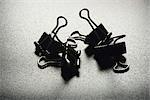 Binder clips, close-up