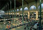 Interior of train station, Gare du Nord, Paris, France
