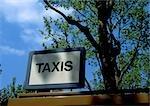 Signe de taxis.