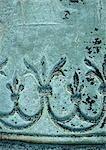 Blumenmotiv in Bronze, Nahaufnahme