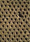 Lattice work surface, close-up