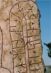 Sweden, runestone, close-up