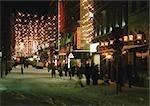 Sweden, Stockholm, shops at night