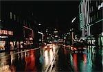 Rue de Suède, Stockholm, dans la nuit
