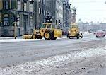 Chasse-neige de Suède, Stockholm, dans la rue