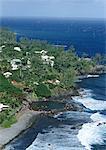 Coastal resort, aerial view