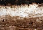 Marques de peinture sur la surface rocheuse