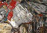 Canettes en aluminium aplatie