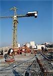 Travailleurs au chantier de construction