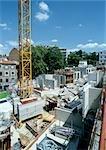 Chantier de construction, vue grand angle