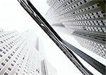 Vereinigte Staaten, New York, Wolkenkratzer, low Angle view