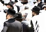 Foule d'Israël, Jérusalem, des hommes juifs.