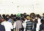 Israël, Jérusalem, la foule au mur des lamentations