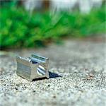 Pencil sharpener on sidewalk