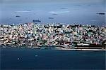 Vue aérienne de Male, Atoll Nord Nale, Madives