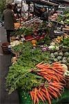 Stand de légume au marché