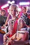 Jungen in der Rock-Band