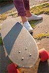 Nahaufnahme des Skateboards, Portland, Oregon, USA