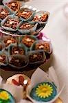 Close up of mini cakes