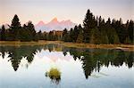 Atterrissage Schwabacher et Grand Tetons, Grand Teton National Park, Wyoming, USA