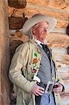 Bufalo Bill Cody at Old Trail Town, Cody, Wyoming, USA
