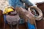 Nahaufnahme der Cowboy in Sattel