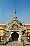 Statues à l'extérieur du Temple, Bangkok, Thaïlande