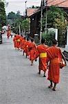 Buddhist Monks Collecting Alms, Luang Prabang, Laos