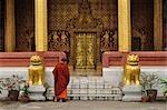 Mönch im Wat Sensoukharam, Luang Prabang, Laos