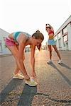Women Getting Ready for Run