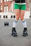 Woman Roller Skating, Portland, Oregon, USA
