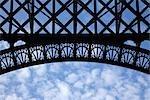 Eiffel Tower Detail, Paris, Ile-de-France, France