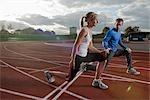 2 athletes training together