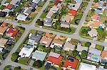 Vue aérienne de maisons sur la côte est de la Floride