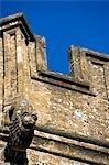 Crewkerne, Somerset, l'Angleterre. Église paroissiale de Saint-Barthélemy se dresse sur les hauteurs à l'ouest du centre ville. C'est le point focal de la perspective rurale du côté ouest de la ville - un superbe exemple du style perpendiculaire avec de nombreuses fonctionnalités inhabituelles et individuels. Mis en évidence ici sont ses gargolyes hautement individuel, ou plus exactement sa chimère.