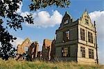 Angleterre, Shropshire. Les ruines du château de Moreton Corbett, un château médiéval et le manoir Tudor de la famille de Corbet.