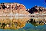 USA,Utah,Canyonlands National Park,reflection of a mountain bluff