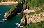 Pays de Galles, Pembrokeshire. Skrinkle paradis sur la côte sud du Pembrokeshire.