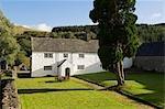 Pays de Galles, Conwy, Pentre Foilas. Maison de ferme GILAR construit 1623 comme un traditionnel gallois manoir, a de nombreux détails intérieurs originaux y compris les murs intérieurs de panneau en bois et portes basses.