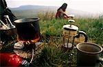 Pays de Galles. Camping dans la vallée de Ogwen, Parc National de Snowdonia.