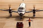 Small Plane at San Francisco International Airport, San Francisco, California, USA