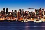 Dawn over Midtown Manhattan, New York City, New York, USA