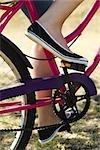 Vélo de femme, recadrée vue