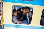 School Boys on the Blue Mountain Railway, Ooty, Tamil Nadu, India