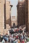 Crowds of Tourists at Kanark, near Luxor, Egypt