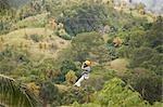 Woman on Zipline, Davao, Mindanao, Philippines